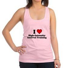 I Heart High-Intensity Interval Training Racerback