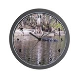 Alligator Swamp Wall Clock