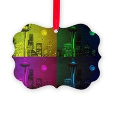 Seattle Space Needle Pop Art Ornament