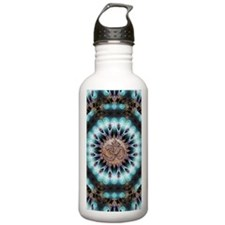 Om Shanti Fractals Water Bottle