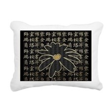 Chinoiserie Rectangular Canvas Pillow