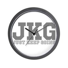 Just Keep Going Gray Wall Clock
