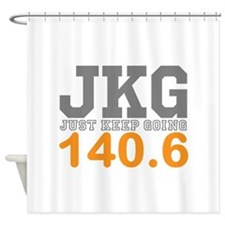 Just Keep Going 140.6 Shower Curtain