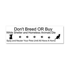 Cool Breeds Car Magnet 10 x 3