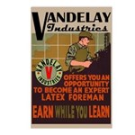 Retro Vandelay Industries Postcards (Pkg of 8)