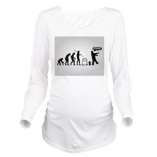 Zombie Evolution Long Sleeve Maternity T-Shirt