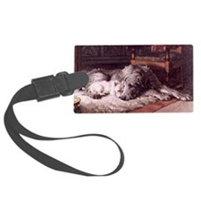 Irish Wolfhound Luggage Tag