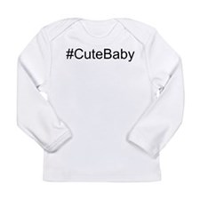 Hashtag # Cute Baby Long Sleeve Infant T-Shirt