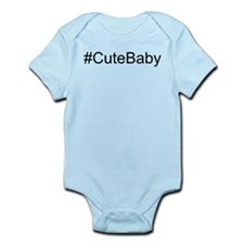 Hashtag # Cute Baby Infant Bodysuit
