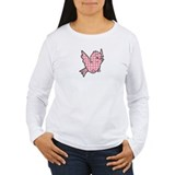 Pink Gingham Bird T-Shirt