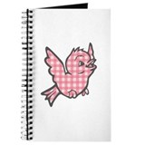 Pink Gingham Bird Journal