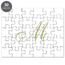 Gold Monogrammed Initial Puzzle