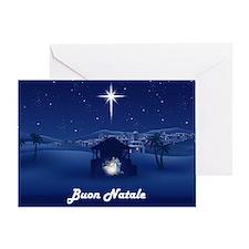 Cute Buon natale Greeting Card