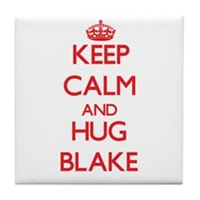 Keep calm and Hug Blake Tile Coaster