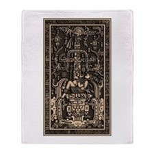Sala Tumba de Pakal3 Throw Blanket