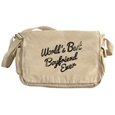 Worlds best boyfriend Messenger Bag