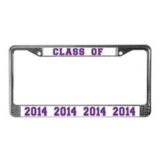 Class Of 2014 Purple License Plate Frame
