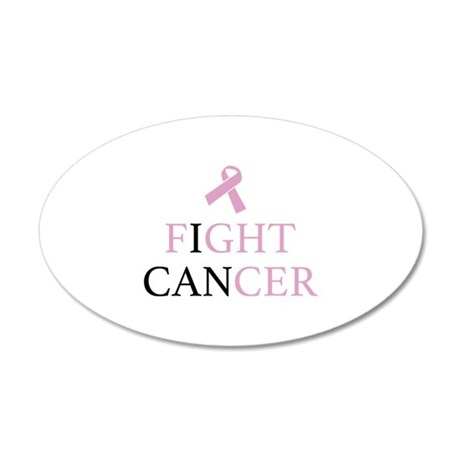 Fight Cancer 22x14 Oval Wall Peel