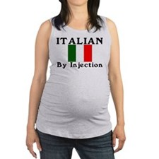 Italian by injection.png Maternity Tank Top