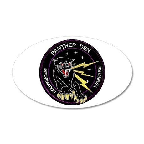 Panther Den 20x12 Oval Wall Decal
