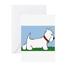 Westie Walk Greeting Cards