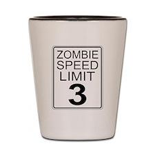 Zombie Speed Limit Shot Glass