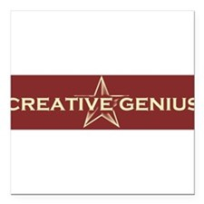 "Unique Creativity Square Car Magnet 3"" x 3"""
