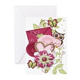 Owls valentines Greeting Cards (10 Pack)
