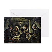 Van Gogh - The Potato Eaters, famous Greeting Card