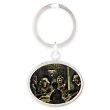 Van Gogh - The Potato Eaters, famous Oval Keychain