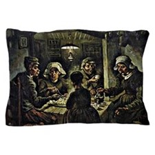 Van Gogh - The Potato Eaters, famous V Pillow Case