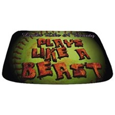 Plays Like A Beast Fastpitch Softball Bathmat