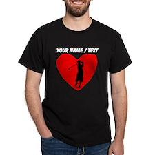 Custom Golf Heart T-Shirt