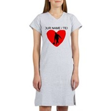 Custom Bowling Heart Women's Nightshirt