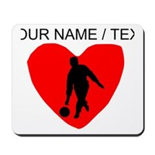Custom Bowling Heart Mousepad