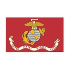 Marine Flag Rectangle Car Magnet