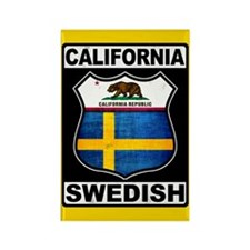 California Swedish American Magnets