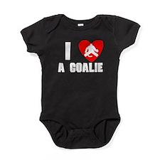 I Heart A Hockey Goalie Baby Bodysuit