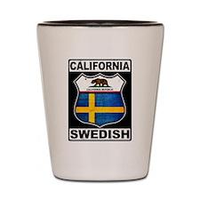 California Swedish American Shot Glass