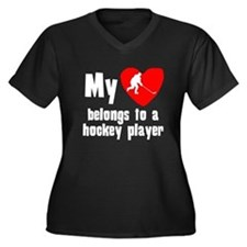 My Heart Belongs To A Hockey Player Plus Size T-Sh
