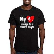My Heart Belongs To A Hockey Player T-Shirt