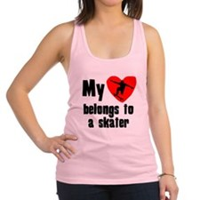 My Heart Belongs To A Skater Racerback Tank Top