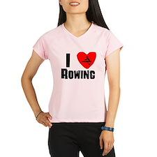 I Heart Rowing Performance Dry T-Shirt