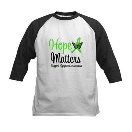 Hope Matters Lymphoma Kids Baseball Jersey