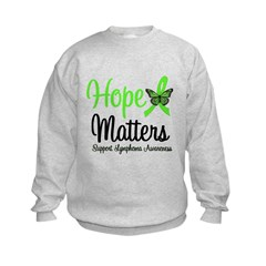 Hope Matters Lymphoma Kids Sweatshirt