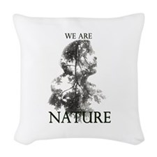WE ARE NATURE Woven Throw Pillow