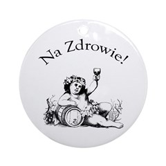 Polish Toast Wine Ornament (Round)