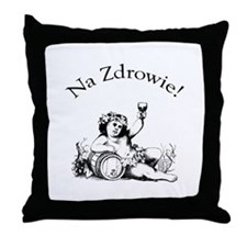 Polish Toast Wine Throw Pillow