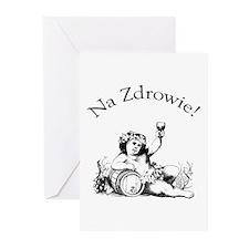 Polish Toast Wine Greeting Cards (Pk of 10)