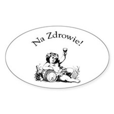 Polish Toast Wine Oval Decal